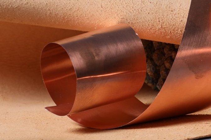 La découpe du cuivre dans une semelle